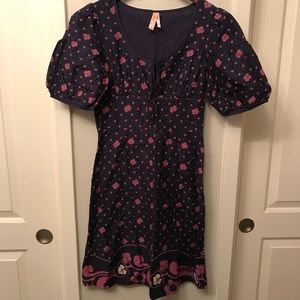 Maeve dress sz 4 women's purple blue Anthropologie